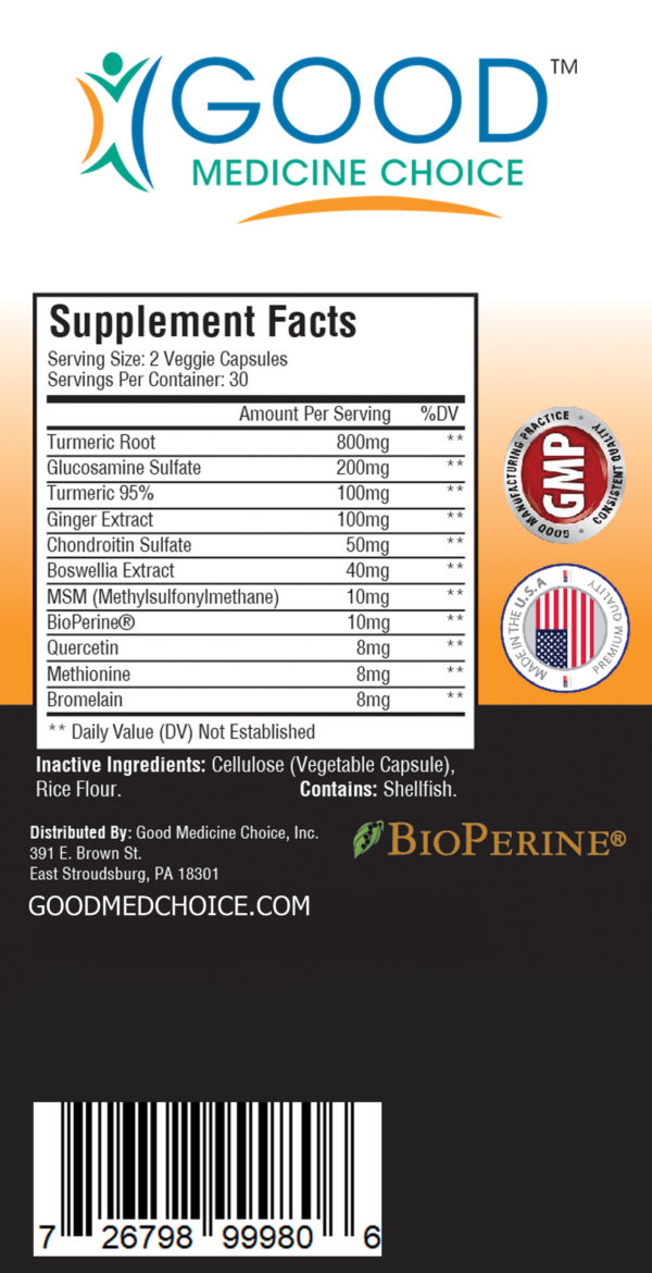 platinum turmeric good medicine choice supplement facts